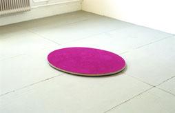 Matthieu van Riel. Bloemenveld 65x90x2cm pigment op linnen op hout (ovaal) vloerobject 2005/2021