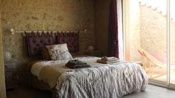 """La chambre Amandier de la Maison d'hôtes """"Au pied du figuier"""" près de Carcassonne et Limoux"""