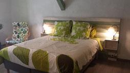 """Chambre """"Olivier""""-Maison d'hôtes """"Au Pied du figuier"""" près de Carcassonne et de Limoux"""