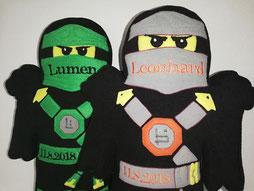 Namenskissen Ninja inspiriert von den Ninjas aus Ninjago Serie