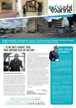 Couverture du Mag de Roanne adapté par AcceSens