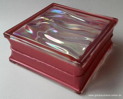 Bormioli Rocco  Prestige Agua B-Q 19 Perla Roja Glasbaustein Glasstein Glass Blocks Bloques de vidrio Glasbausteine-center glasbausteine-center.de Glasbausteine Glassteine spain design rot red  Glastegel klaasplokid stikla bloki kioo Blocks Staklo Blokovi