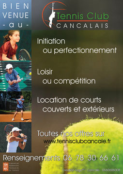 Affiche Tennis Club Cancalais - Logo&Co Communication Cancale