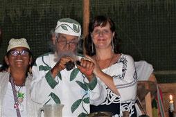 Zeremonie mit Don Agustin, Marlene & Shanti