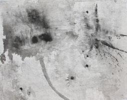 荷花38 LOTUS 38 50X56CM 纸本水墨与矿物色 INK & MINERAL COLOR ON PAPER 2004