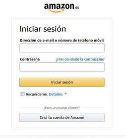 Inicio de sesion en Amazon