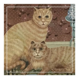 Naive study of two cats.  20th century