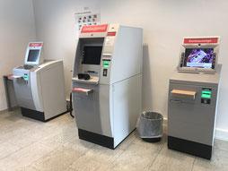 Automaten in der Sparkasse Kattenesch