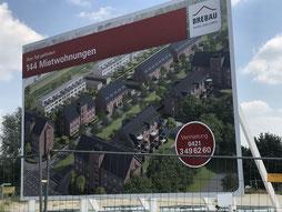Brebau Neubauvorhaben Familienviertel