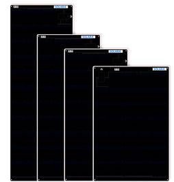 SOLARA POWER M-Serie mit monokristallinen backkontakt Solarzellen. Schwarz, flach, begehbar und flexibel. Top Qualität mit bestandenen internationale Tests. Ideal zum nachrüsten auf Camper, Kastenwagen, Vans und Segelbooten. Solarmodule maximale Leistung.