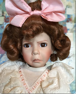 Dianna Effner porcelain Nursery Rhyme doll, Girl with a Curl.