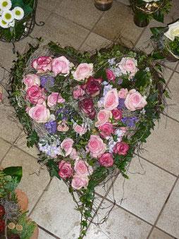 Herz in rosa Tönen