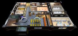 3次元CGで病院全景をシミュレーション