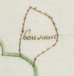 Bnf. Plan de la forêt royale d'Ecouves (détail), 1674