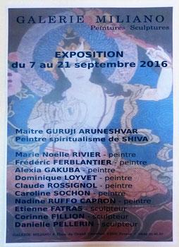 Claude Rossignol - Affiche Expo Galerie Miliano 2016
