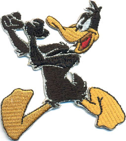 Anti Polizei Aufnäher, Boxing Duck Daffy Duck Ultras boot boys Rockabilly Patch Aufnäher
