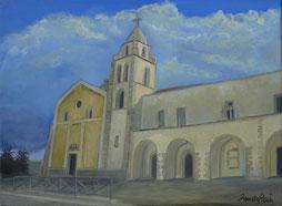 CHURCH OF ST. FRANCIS, OIL ON CANVAS, 30X40 CM, YEAR 2014