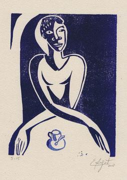 Le café. 2008. (12x16 cm)