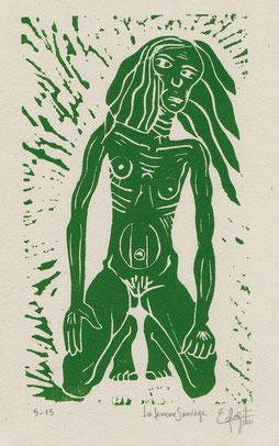 La femme sauvage. 2011. (19x11 cm)