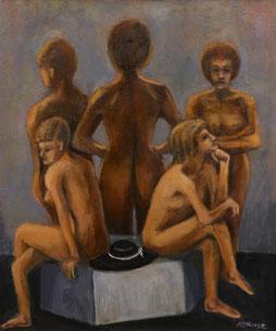 裸婦群像 (油彩・F20)