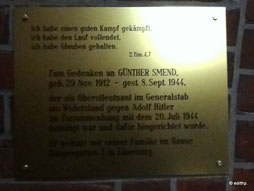 Gedenken an Günther Smend