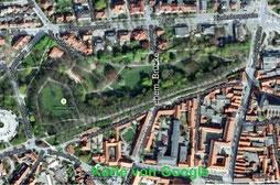 Anfang des 20. Jahrhunderts wollte man eine direkte Verkehrsverbindung vom Rathaus nach Norden aus der Stadt heraus. In Verlängerung der Reitenden Diener Straße wurde 1910 eine dreibogige Holzbrücke auf Backsteinpfeilern über die Senke des Liebesgrundes z
