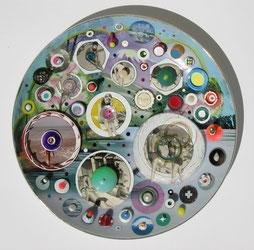 Fuji  2016  Mixed Media on Dish  25 x 25 cm