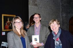 Mme Agathe Jagerschmidt, conservatrice du musée, et Mme Bousquet, présidente de l'Association des Amis du Musée