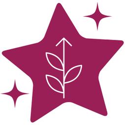 Icône étoile avec fleur qui s'épanouit et lien vers la page des accompagnements