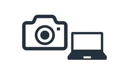 カメラとパソコンのアイコン