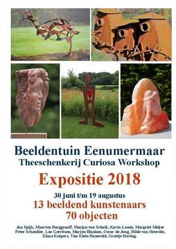 Flyer Expositie Beeldentuin Eenumermaar 2018