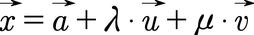 Allgemeine Form einer Ebene in Parameterform