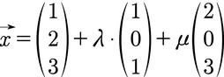 Ebene in Parameterform