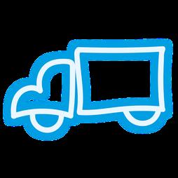 Icon: LKW steht stellvertretend für weltweite Transporte