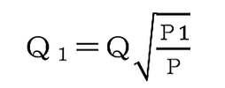 放水圧力1.0メガパスカル時のスプリンクラーヘッドの放水量 算出式