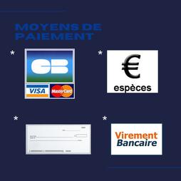 règlement cb ,especes, virements bancaires , modes de règlements