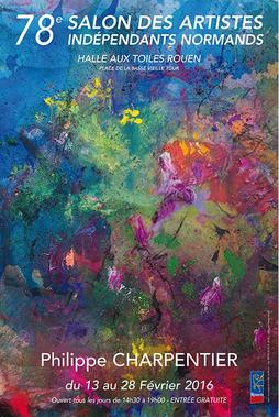 Claude Rossignol - Affiche Salon des Artistes Indépendants Normands 2016