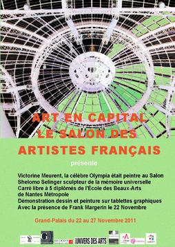 Claude Rossignol - Affiche Salon des Artistes Français 2011
