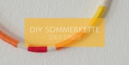 DIY Sommerkette aus Kordel