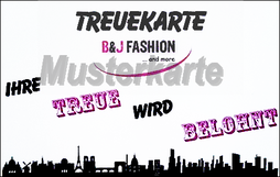 Treuekarte B&J Fashion