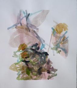 1.9.10 2010 66 x 57 cm Aquarell / Papier