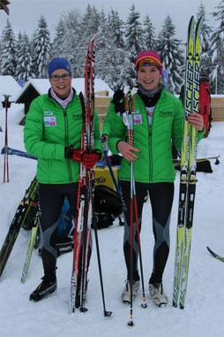 Lisa Reichert und Gina-Marie Puderbach (Teamsprint Schülerinnen 14/15)