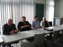 von links nach rechts: Karlheinz Föhlinger, Christian Föhrden, Thomas Hein, Horst Pawlowski