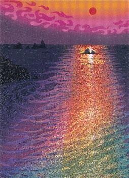 五彩の海 (1991)    木版画9版25度摺