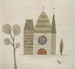教会 (1968)  エッチング / 29.0x31.7cm