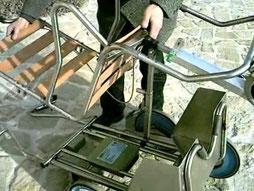 Invo 4 kit , operazione di montaggio della seduta
