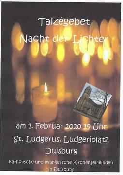 """Plakat """"Nacht der Lichter"""""""