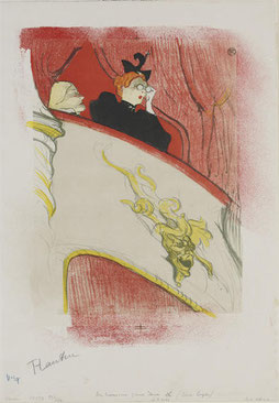 The Theatre Box with the Gilded Mask – Playbill for the Théâtre Libre, 1893 - Lithograph (in five colours) on wove paper, 50x32,5 cm - Budapest, Galleria Nazionale