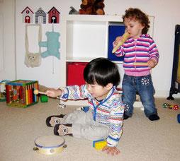 Die Kinder machen Musik