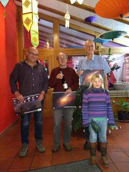 Die erstplatzierten Peter Frank, Richard Pragner und Hans-Werner Neumann mit Johanna Weinzetl (Foto: Andreas Leonhardt)